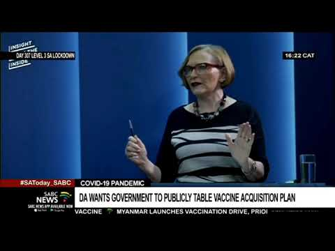 DA Wants Government To Publicly Table The COVID-19 Vaccine Acquisition Plan