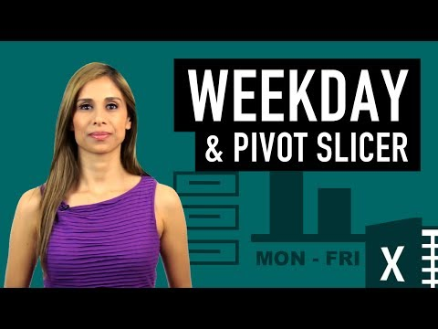 Excel Pivot Chart with Slicers for Months to Show Values by Weekday Names