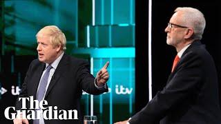 Boris Johnson and Jeremy Corbyn clash in ITV election debate