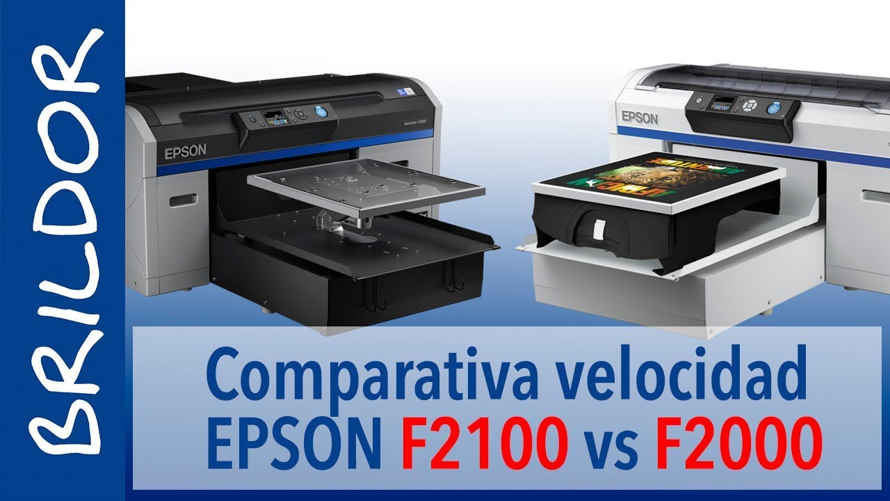 EPSON F2100 VS F2000 - T-shirt printing SPEED test