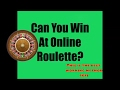 Can you really win at online roulette  -this is the best working method 2017 - Must see it  works