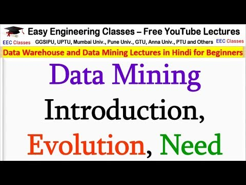 Data Mining Introduction, Evolution, Need Of Data Mining | DWDM Video Lectures