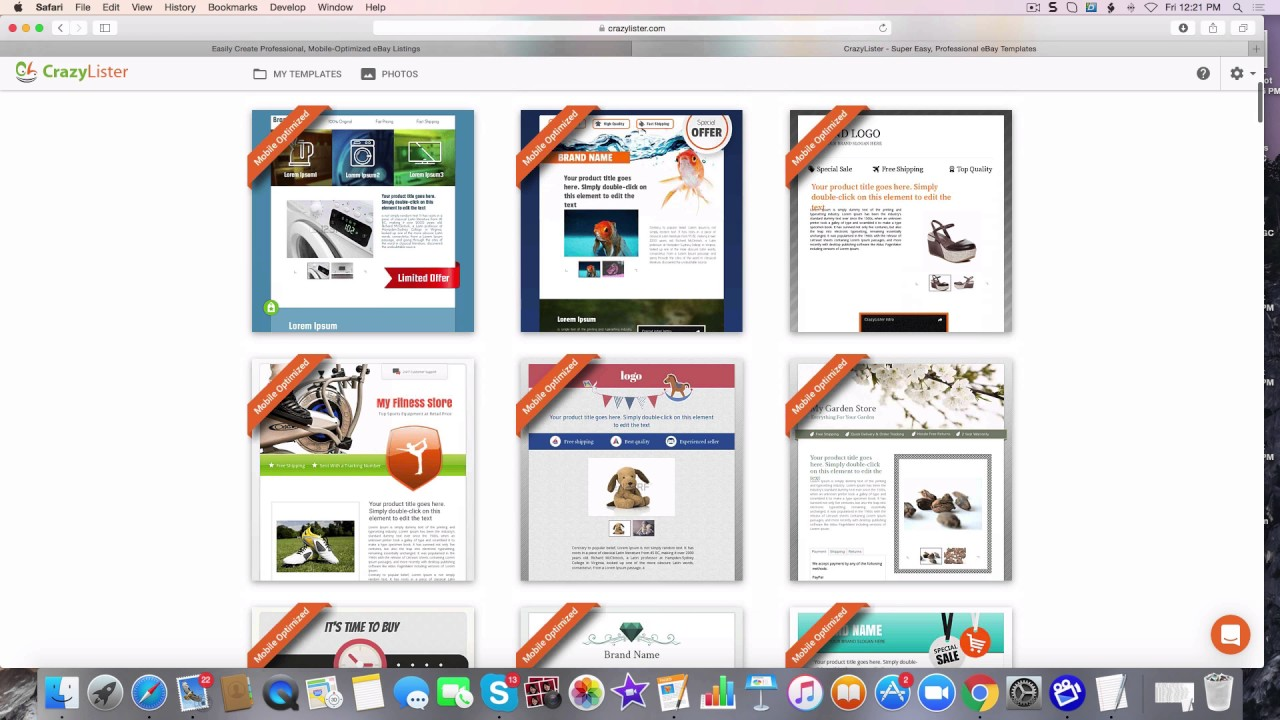 Ebay Shopify Drag And Drop Mobil Friendly Templates To Increase