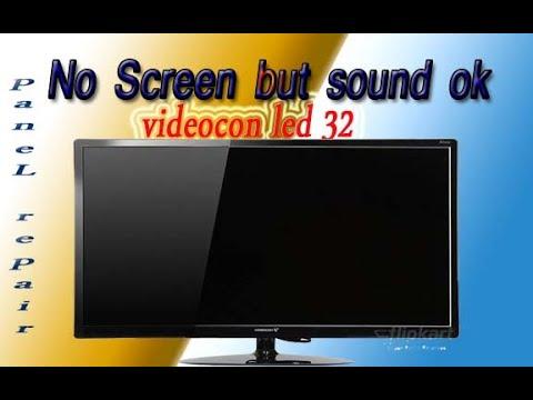 Led tv No screen फॉल्ट ठीक करें/ Videocon Led No picture but sound ok