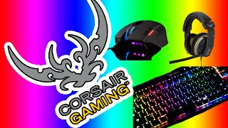 i got some new stuff corsair keyboard k65 h1500 headset and sabre mouse