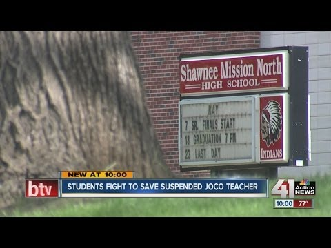 Students fight to save suspended Johnson County teacher