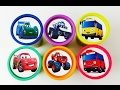 Learn Colors Play Doh Cups Stacking Cars 2 Dysney Lightning Mcqueen , Blaze and Tayo Cars for Kids
