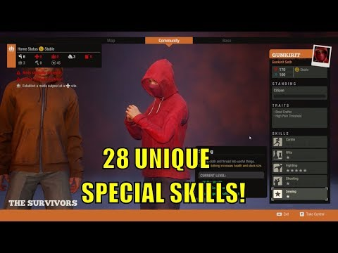 STATE OF DECAY 2 - 28 UNIQUE SPECIAL SKILLS!