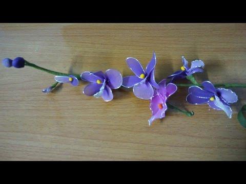 Hướng dẫn:LÀM HOA VOAN( Orchids Nylon Flowers)_HOA LAN