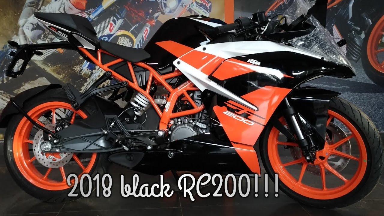 Ktm rc 200 black colour image