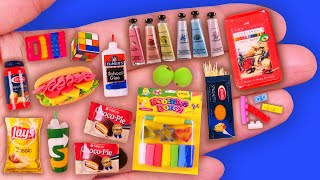 31 Realistic DIY Miniature Food, School Supplies and Makeup Kit Hacks & Crafts 미니어쳐 화장품, 음식, 학용품 만들기
