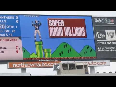 Super Mario Williams scoreboard video