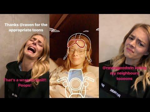 Samara Weaving  Snapchat Story  1 November 2017