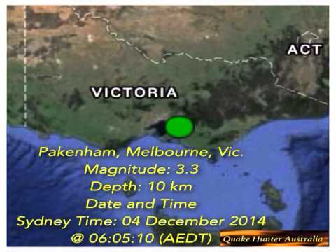 2 Magnitude 3+ Earthquakes in Victoria in 2 days