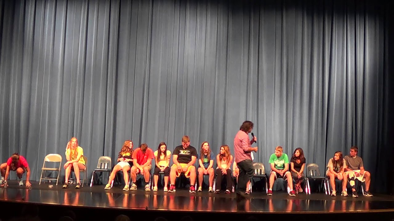 Stage Hypnosis show for area high school in St. Louis ...  Stage Hypnosis