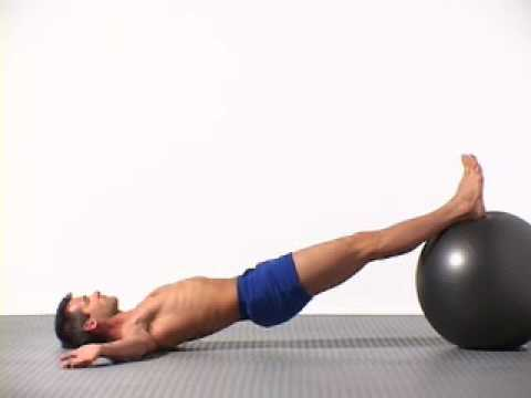 Exercises to firm the buttocks and legs with the fitball