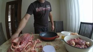 Выход мяса и субпродуктов с гусиной тушки //Вес гуся перед забоем и после//Линдовские гуси