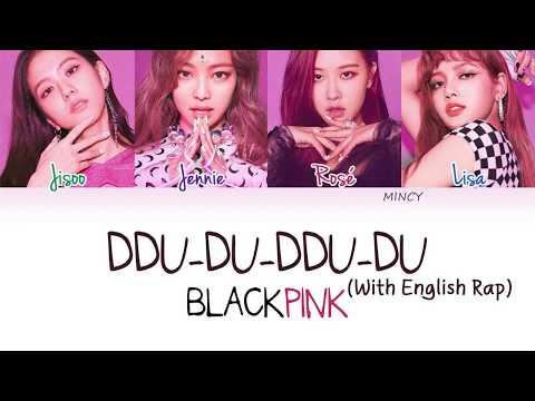 BLACKPINK - DDU-DU-DDU-DU (With English Rap) (Color Coded Han|Rom|Eng Lyrics) | Rosie