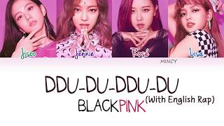 BLACKPINK - DDU-DU-DDU-DU (With English Rap) (Color Coded Han|Rom|Eng Lyrics) | rosie