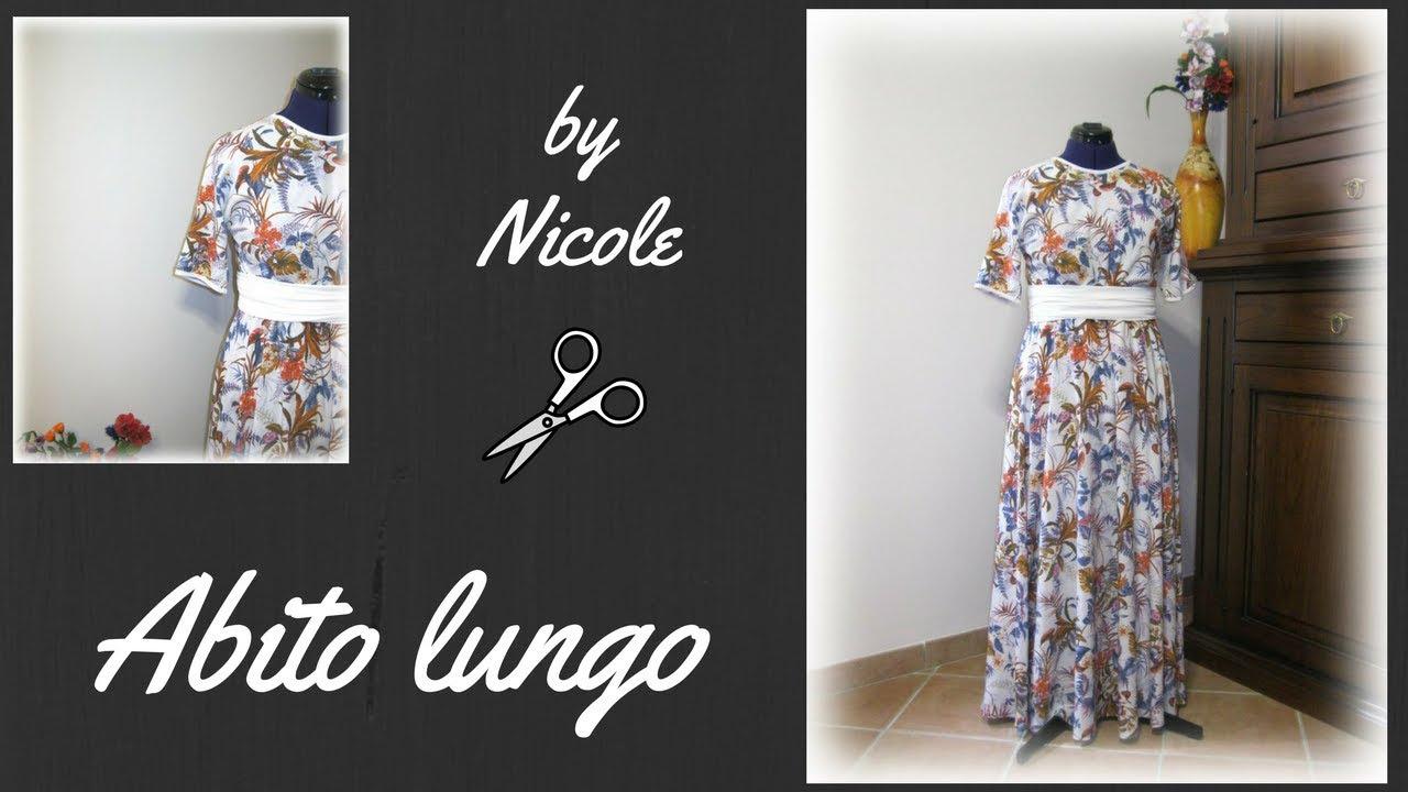 check out 132d6 0d887 Come realizzare un abito lungo senza cartamodello - Sew a maxi dress