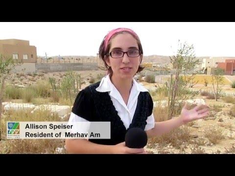 Greening The Young Desert Community Of Merhav Am