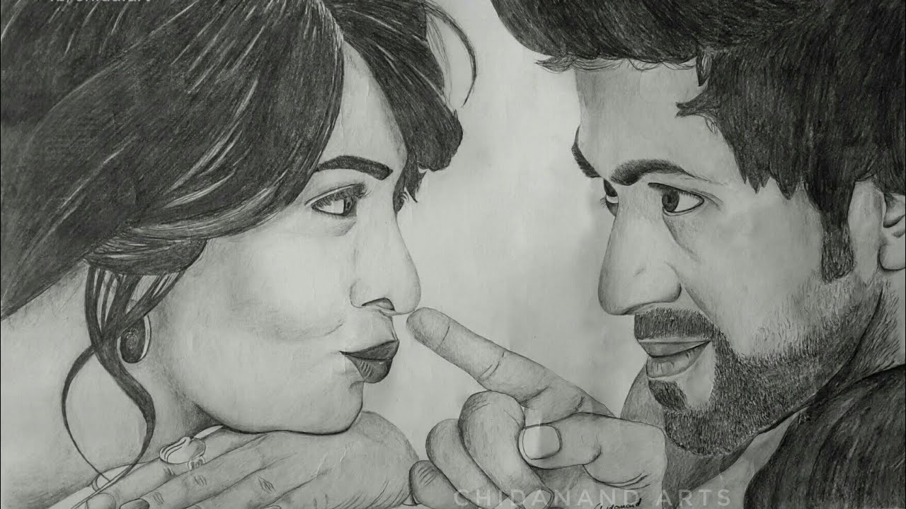 Drawing rockingstar yash radhika pandit pencil