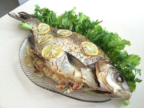 карп с рисом запеченный в духовке рецепт с фото