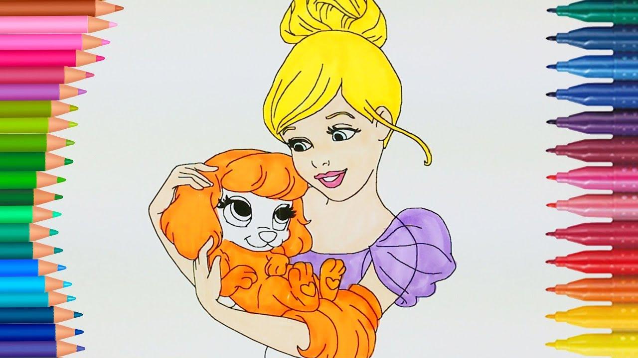 Barbie Ve Tatlı Köpeği Boyama Sayfası Ile Renkleri öğreniyorum