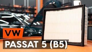 Монтаж на Въздушен филтър на VW PASSAT Variant (3B6): безплатно видео