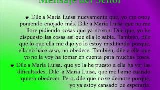 Profecía del Señor a María Luisa Piraquive IDMJI  Mayo 12 de 2014