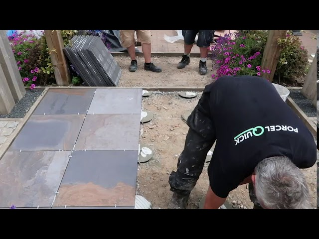 PorcelQuick Adped Porcelain Paving Installation