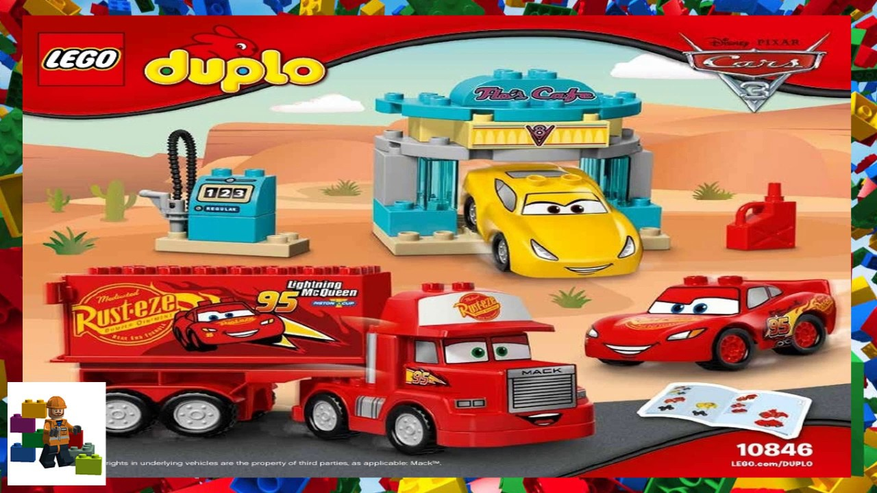 Lego Instructions Duplo Cars 3 10846 Flos Caf Youtube