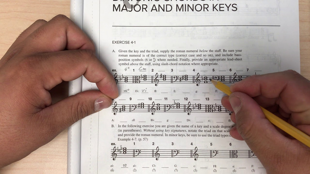 Tonal Harmony Workbook 4-1 A - YouTube