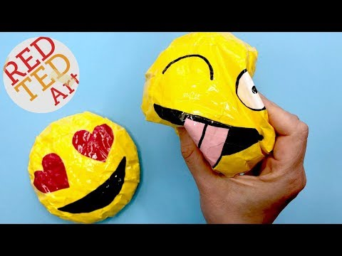 DIY Emoji Paper Squishy - SLOW Rising - How to Make a Squishy WITHOUT FOAM