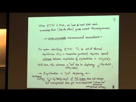 Seminar 8/31/15 - David A. Huse