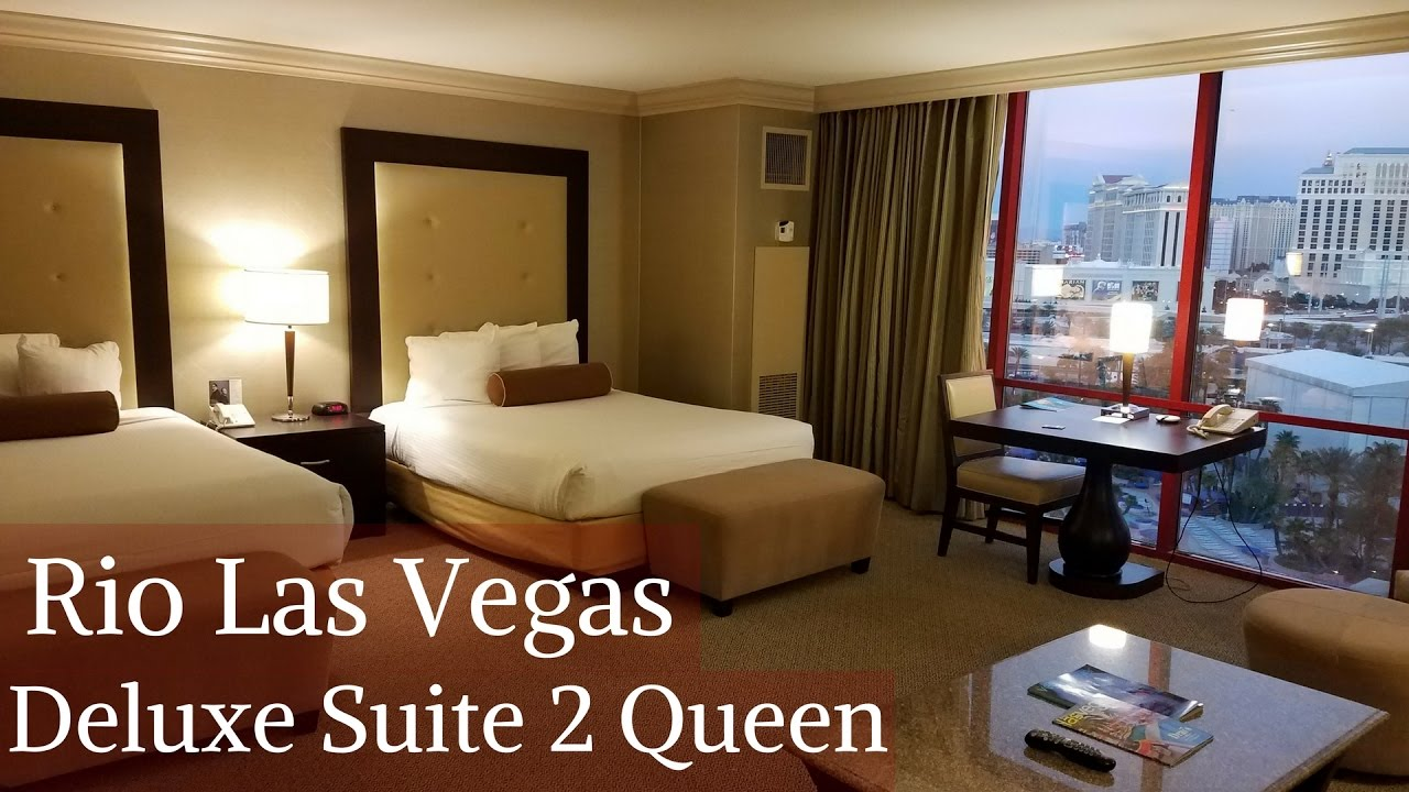 Rio Las Vegas Deluxe Suite 2 Queens Youtube