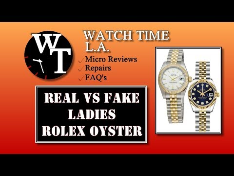 Real vs Fake Rolex with Detailed Close-ups - How to Spot a Fake Rolex