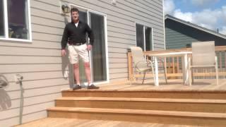 Cedar Deck Install Diy