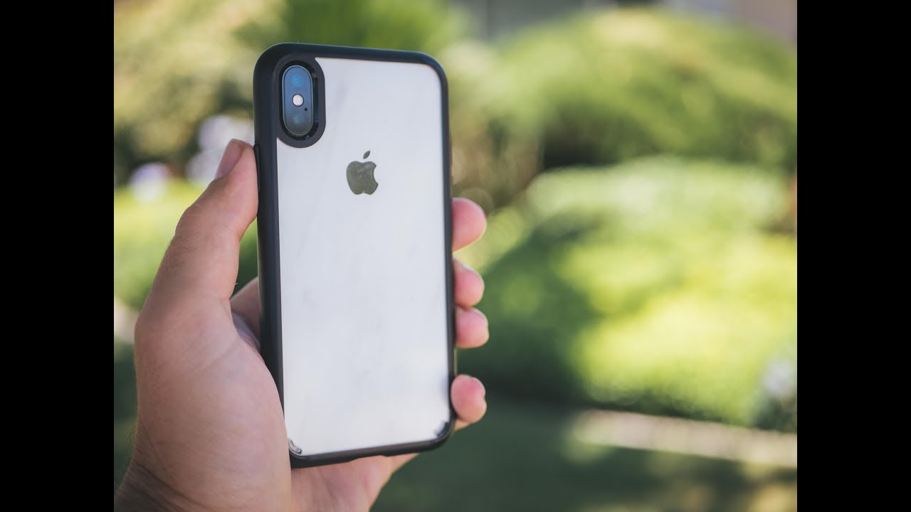 new product 31cd1 1a0e5 iPhone X Spigen Ultra Hybrid dBrand Marble Skin Review!