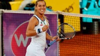 2016 Mutua Madrid Open First Round   Dominika Cibulkova vs Agnieszka Radwanska   WTA Highlights