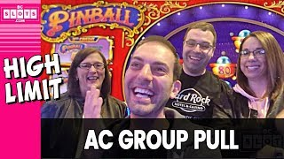 😎 HIGH LIMIT Group Pull 💰 GREAT Time @ Hard Rock AC ✪ BCSlots