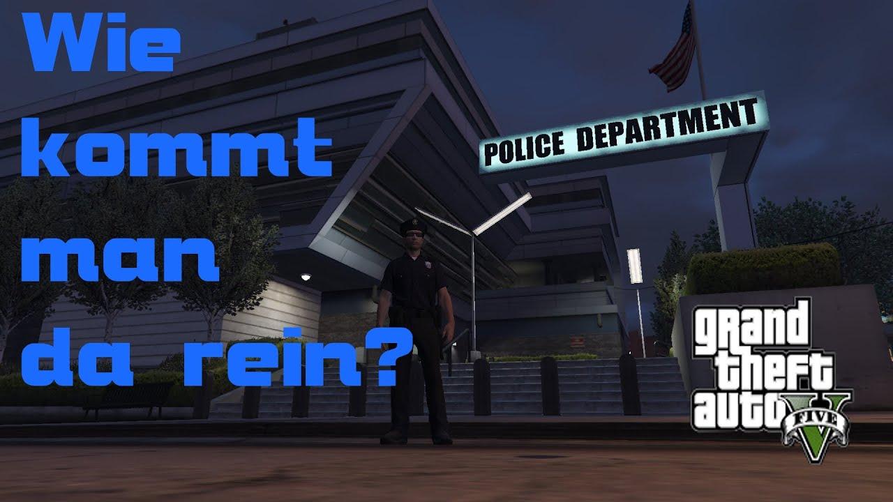 Gta 5 Karte Polizeistation.Wie Kommt Man In Die Polizeiwache Rein Gta 5 Online German Ju Lex