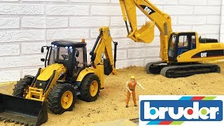 Download lagu BEST OF Bruder toys CONSTRUCTION Excavator JCB Crane Dump truck MP3