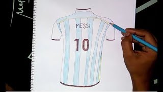 Messi's argentina jersey drawing