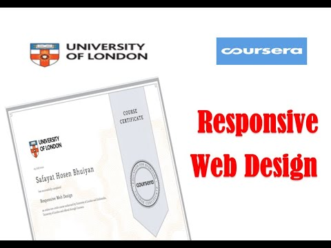 Responsive Web Design All Quiz Coursera Youtube