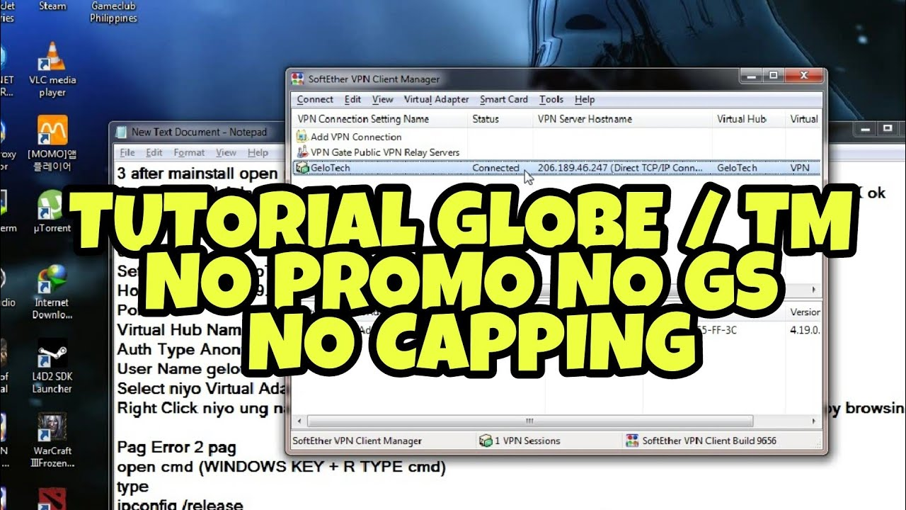 TUTORIAL GLOBE TM NO PROMO NO GS NO CAPPING (PC ONLY) by GELO TECH