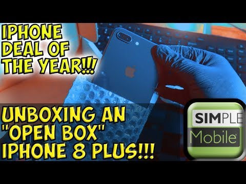 Unboxing An Open Box IPhone 8 Plus From Simple Mobile