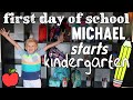 Michael's First Day of Kindergarten
