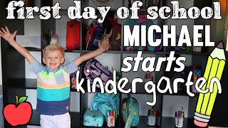 Michael's First Day of Kindergarten