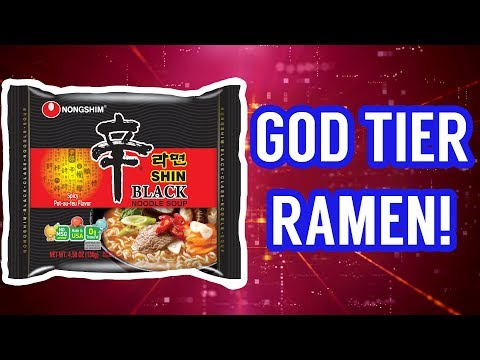 GOD TIER INSTANT RAMEN! Shin Ramyun Black Taste Test Review. [Sir Sebastian]
